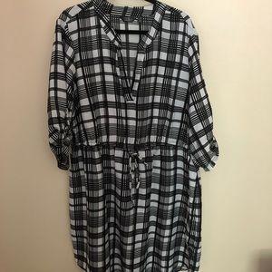 Plaid shirt dress 3X